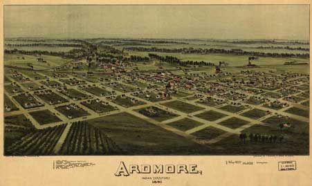 Map of Ardmore, Indian Territory, 1891