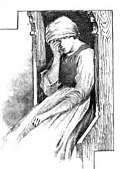 Illustration of grieving woman